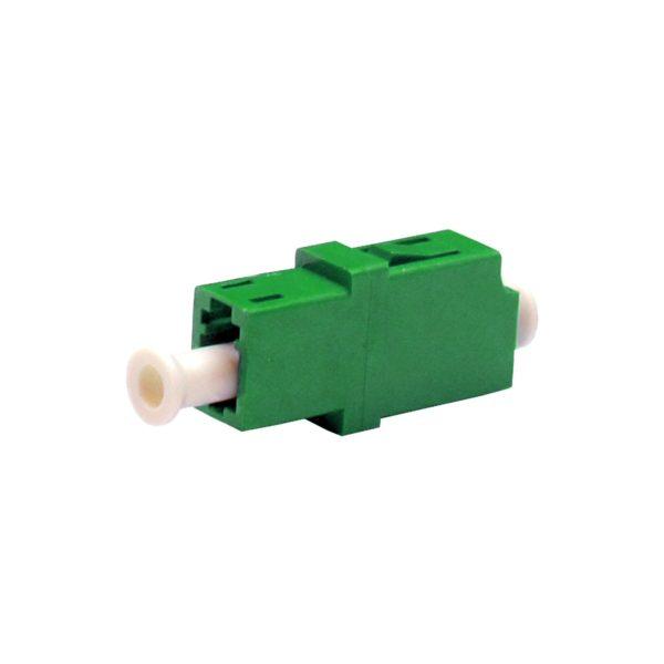 Проходной оптический адаптер LC/APC, Singlemode