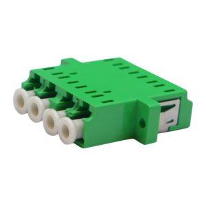 Проходной оптический адаптер qudruplex LC/APC, Singlemode