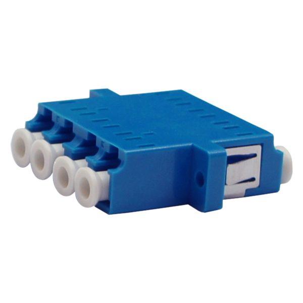 Проходной оптический адаптер qudruplex LC/UPC, Singlemode