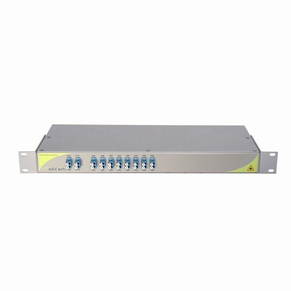 Мультиплексор CWDM двухволоконный 8-канальный, 1310-1450, LC/UPC, 1RU