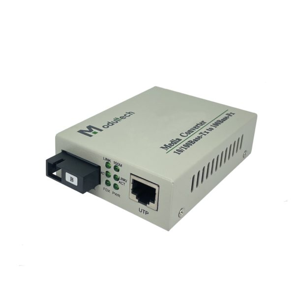 WDM-Медиаконвертер, 10/100-Base-T ̶ 100Base-FX, Tx:1550/Rx:1310, 20км
