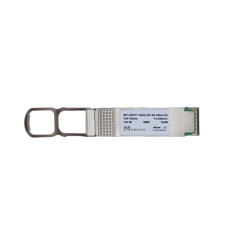 Оптический трансивер QSFP, 100 Гбит/с, до 0,1 км, MMF (MPO)