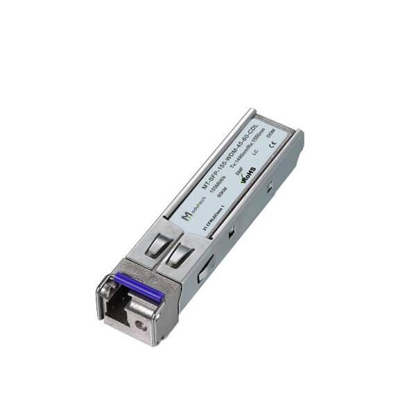 Оптический трансивер SFP WDM, 155 Мбит/с, до 60 км, SMF