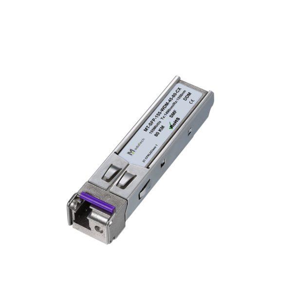 Оптический трансивер SFP WDM, 155 Мбит/с, до 80 км, SMF
