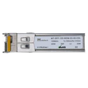 Оптический трансивер SFP WDM, 155 Мбит/с, до 40 км, SMF