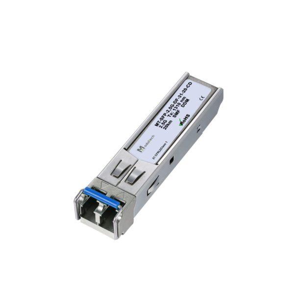 Оптический трансивер SFP, 2,5 Гбит/с, до 20 км, SMF