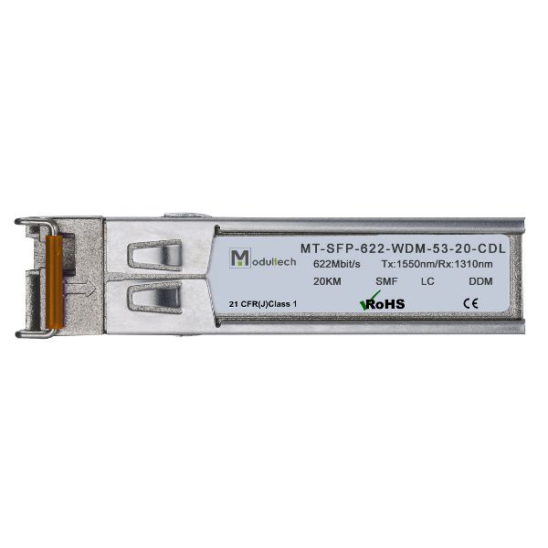 Оптический трансивер SFP WDM, 622 Мбит/с, до 20 км, SMF