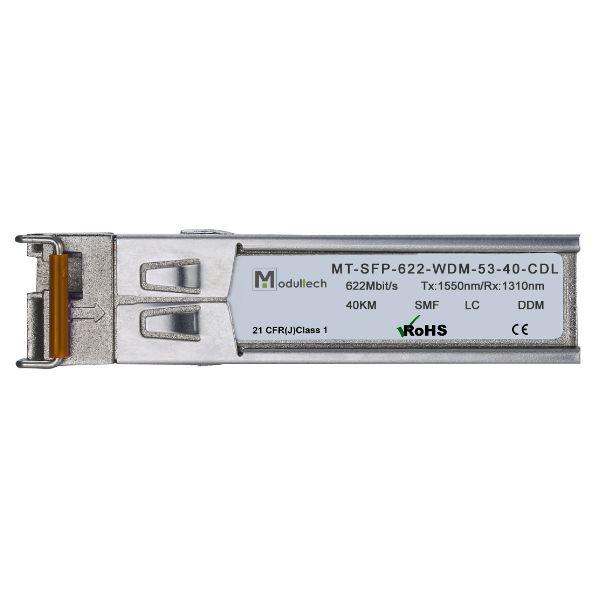 Оптический трансивер SFP WDM, 622 Мбит/с, до 40 км, SMF