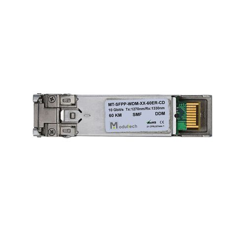 Оптический трансивер SFP plus WDM, 10 Гбит/с, до 60 км, SMF