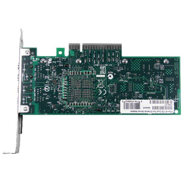 Сетевая карта 10Gigabit Ethernet, 2 RJ-45, 2*10G Base-T, 10 Гбит/с, Intel x540