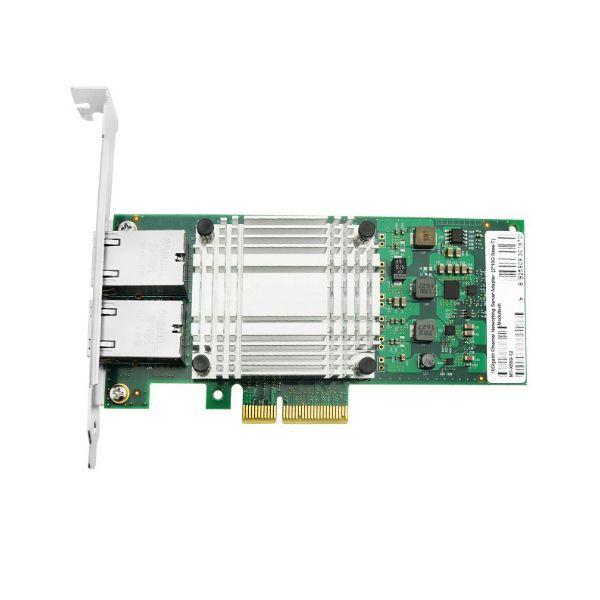 Сетевая карта 10Gigabit Ethernet, 2 RJ-45, 2*10G Base-T, 10 Гбит/с, Intel x550