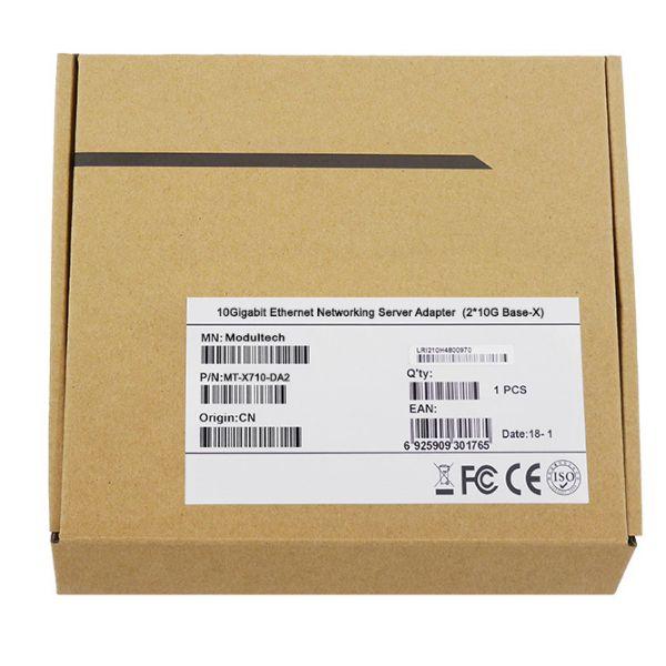 Сетевая карта 10Gigabit Ethernet, 2 SFP+ порта, 2*10G Base-X, 10 Гбит/с, Intel x710