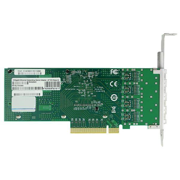 Сетевая карта 10Gigabit Ethernet, 4 SFP+ порта, 4*10G Base-X, 10 Гбит/с, Intel xl710