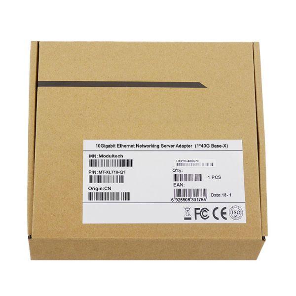 Сетевая карта 40Gigabit Ethernet, QSFP+ порт, 1*40G Base-X, 40 Гбит/с, Intel xl710