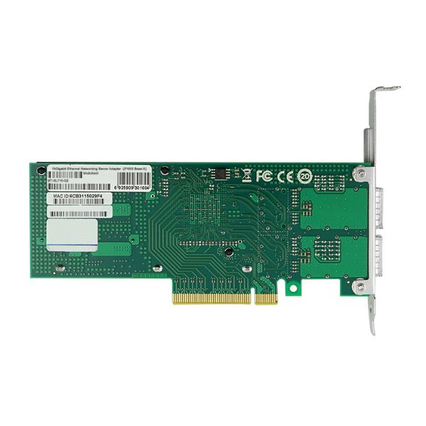 Сетевая карта 40Gigabit Ethernet, 2 QSFP+ порта, 2*40G Base-X, 40 Гбит/с, Intel xl710