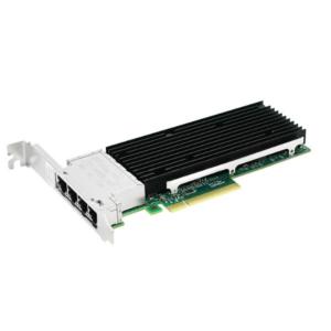 Сетевая карта 10Gigabit Ethernet, 4 RJ-45, 4*10G Base-T, 10 Гбит/с, Intel xl710