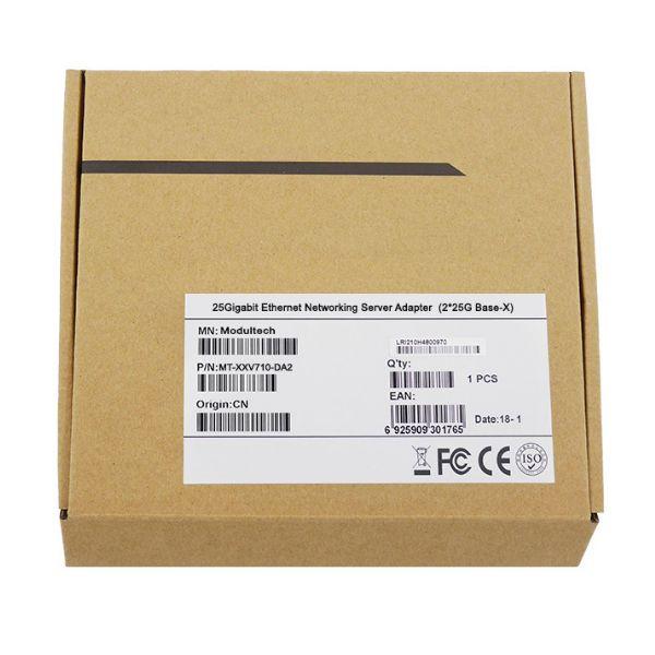 Сетевая карта 25Gigabit Ethernet, 2 SFP28 порта, 2*25G Base-X, 25 Гбит/с, Intel xxv710