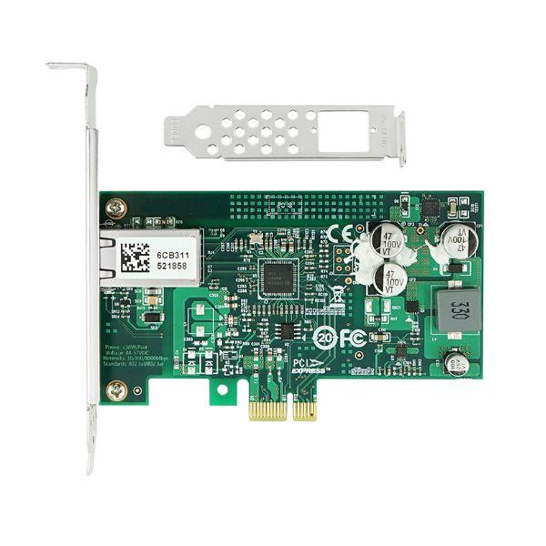 Сетевая карта PoE Gigabit Ethernet, RJ-45, 1*10/100/1000Base-T, 1,25 Гбит/с, Intel i210