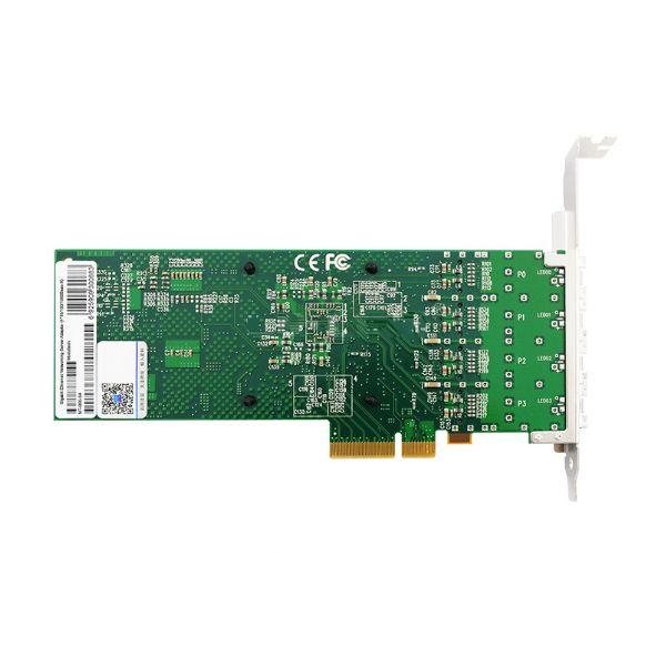 Сетевая карта Gigabit Ethernet, 4 SFP порта, 4*10/100/1000Base-X, 1,25 Гбит/с, Intel i350