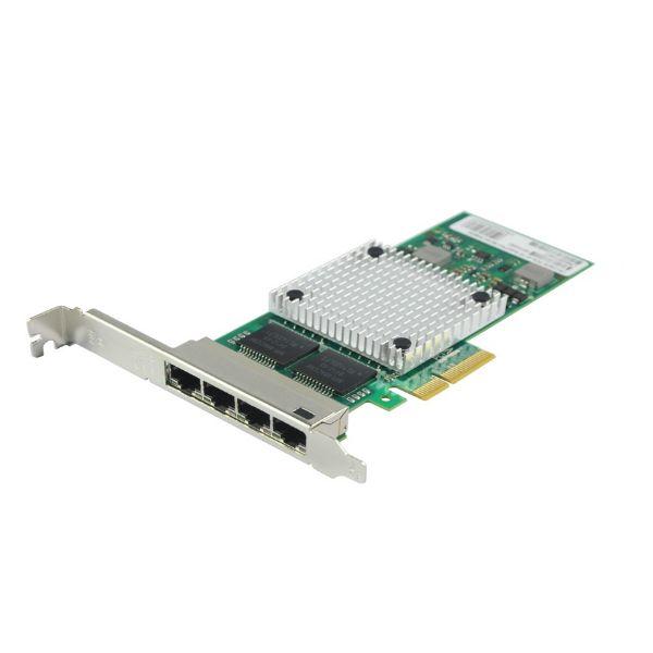 Сетевая карта Gigabit Ethernet, 4 RJ-45, 4*10/100/1000Base-T, 1,25 Гбит/с, Intel i350