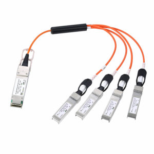 Оптический трансивер Active optical cable QSFP to 4 SFP plus, 4*10 Гбит/с, 15 м
