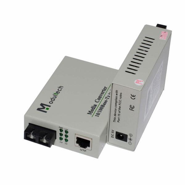 медиаконвертер MT-MC-100/G-55-80-SA общий вид