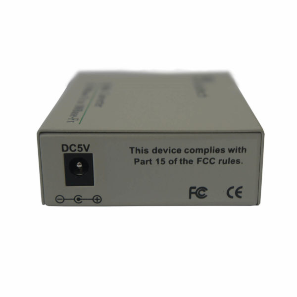 медиаконвертер MT-MC-100/G-31-02-SA вид сзади