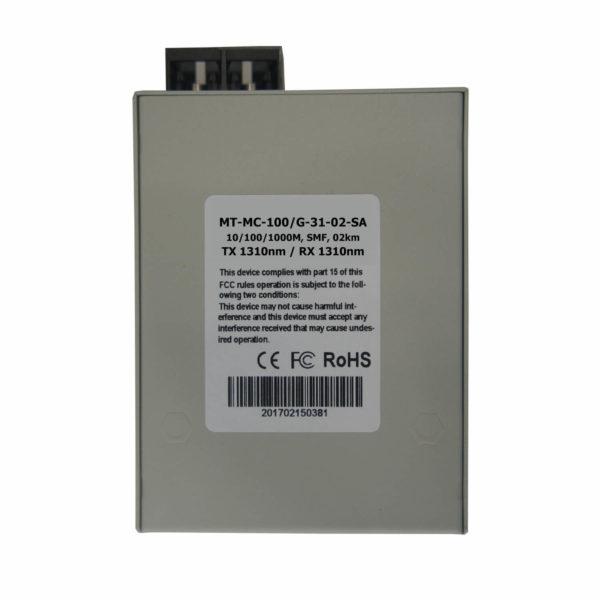 медиаконвертер MT-MC-100/G-31-02-SA вид снизу
