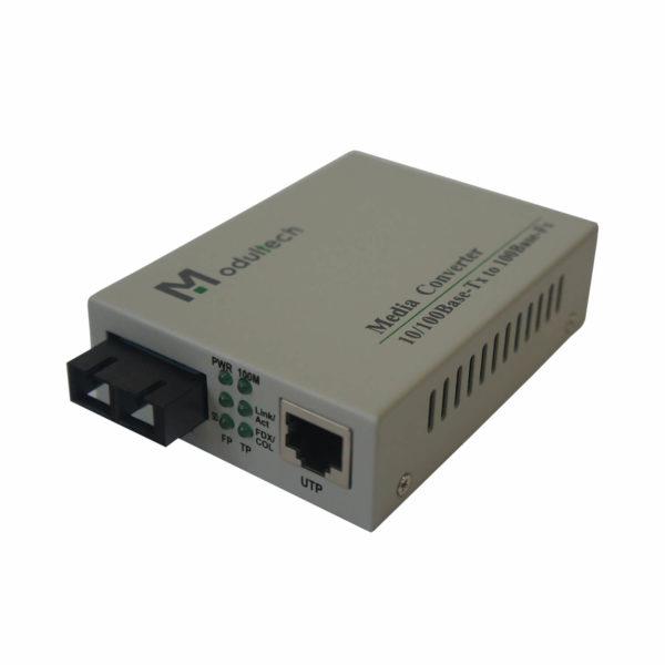 медиаконвертер MT-MC-100/G-31-10-SA вид спереди