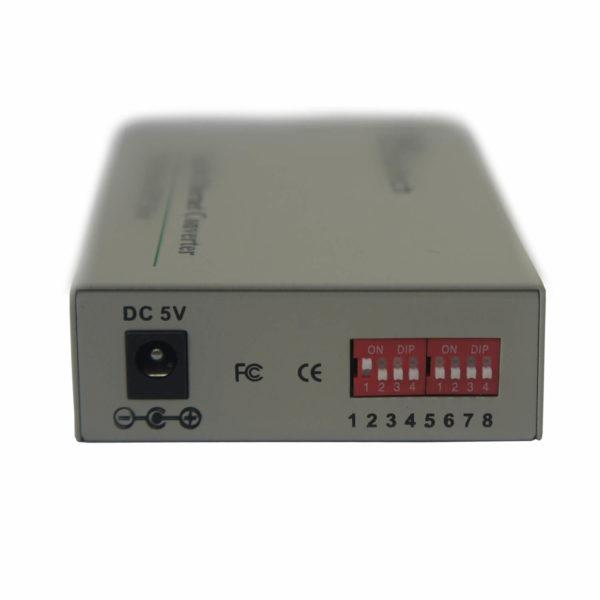 медиаконвертер MT-MC-100/G-53-40-SA-LD вид сзади