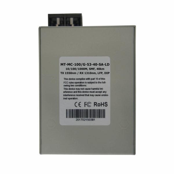 медиаконвертер MT-MC-100/G-53-40-SA-LD вид снизу