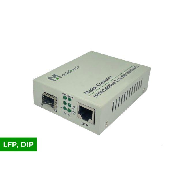 Медиаконвертер 100/1000M SFP слот, LFP-DIP