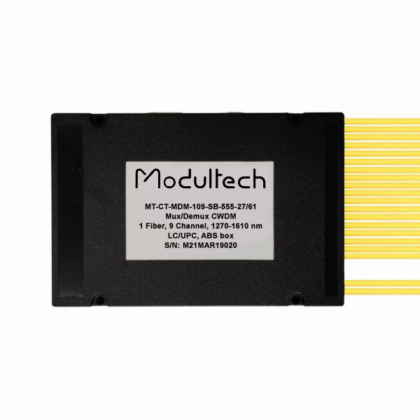 Мультиплексор CWDM, 9 каналов, 1270-1610, LC/UPC, ABS box