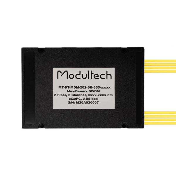 Мультиплексор DWDM двухволоконный, 2 канала, ABS box