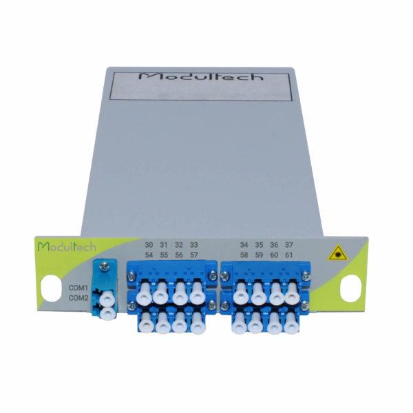 Мультиплексор DWDM двухволоконный, 8 каналов, LGX 1/3