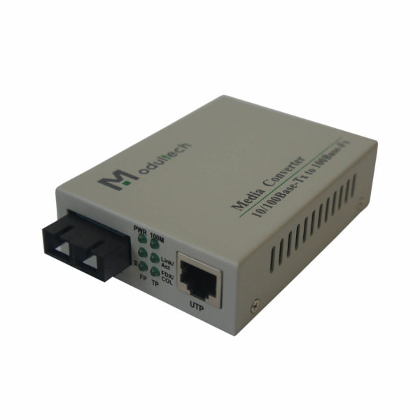 медиаконвертер MT-MC-100/G-31-20-SA вид спереди