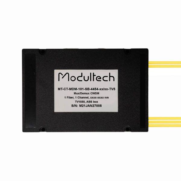 Мультиплексор CWDM одноволоконный 1-канальный + выделенный TV канал 1550, abs box