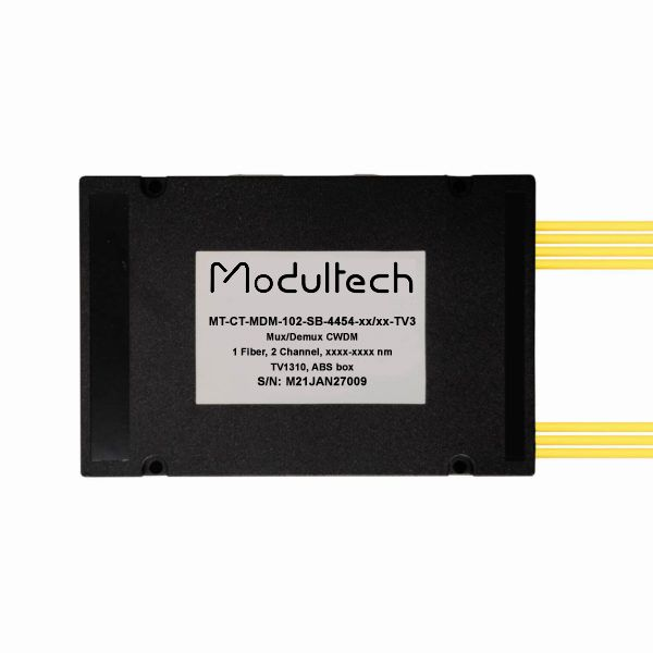 Мультиплексор CWDM одноволоконный 2-канальный + выделенный TV канал 1310, abs box