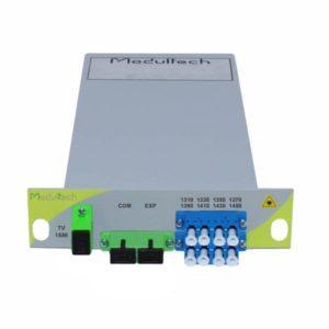 Мультиплексор CWDM одноволоконный 4-канальный + выделенный TV канал 1550, LGX