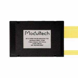 Мультиплексор CWDM одноволоконный 4-канальный (1270-1410 нм) + выделенный TV канал 1550, abs box