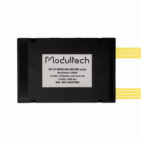 Мультиплексор CWDM двухволоконный 2-канальный, ABS box