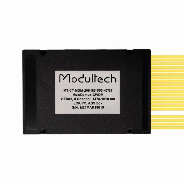Мультиплексор CWDM двухволоконный 8-канальный, 1470-1610, LC/UPC, ABS box