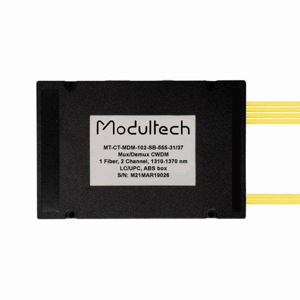 Мультиплексор CWDM, 2 канала, 1310-1370нм, ABS box