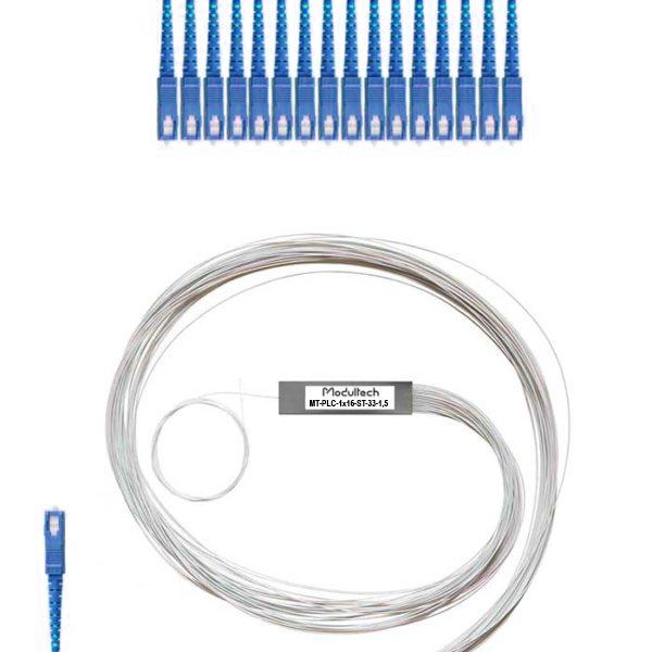 PLC-1x16 (steel tube) SC/UPC