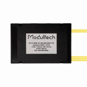 Мультиплексор CWDM одноволоконный 1-канальный (1550, 1570 нм) + выделенный TV канал 1310, abs box