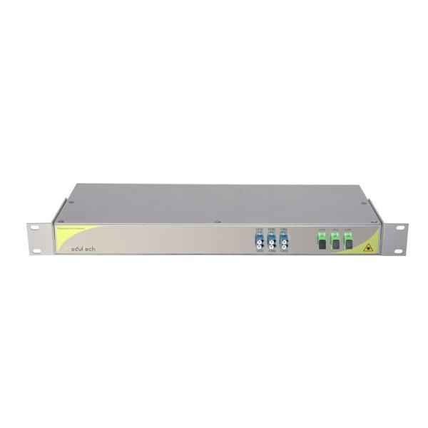 Мультиплексор CWDM одноволоконный 3-канальный (1310-1410) + выделенный канал TV 1550