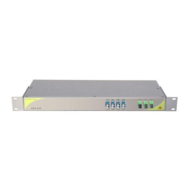 Мультиплексор CWDM одноволоконный 4-канальный (1310-1410, 1470, 1490) + выделенный канал TV1550