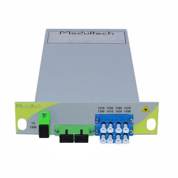 Мультиплексор CWDM одноволоконный 4-канальный (1310-1450 нм) + выделенный TV канал 1550, LGX