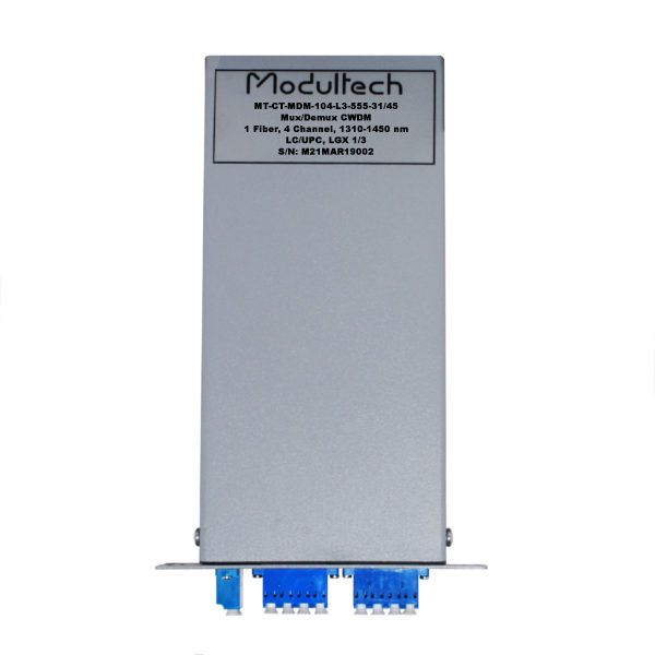 Мультиплексор CWDM, 4 канала, 1310-1450, LGX 1/3
