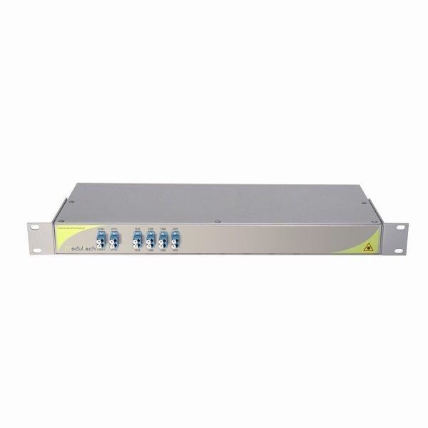 Мультиплексор CWDM двухволоконный 8-канальный, 1470-1610, LC/UPC, 1RU